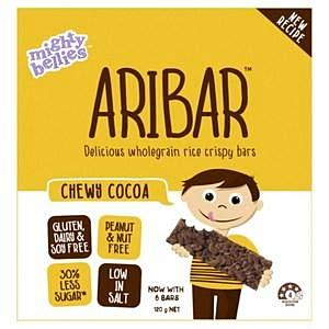 Mighty Bellies Aribar Rice Crisp Bars Cocoa 120g 6pk