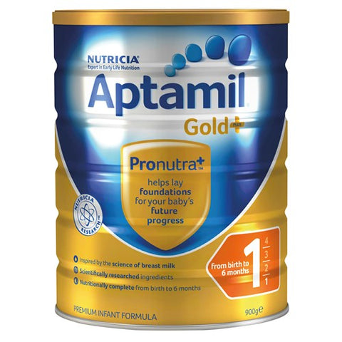 Aptamil Gold+ Stage 1 Starter From Birth Formula 0-6 Months 900g