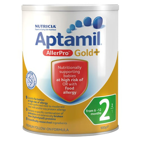 Aptamil Gold+ Stage 2 Follow On From 6 Months Allerpro Baby Formula 900g