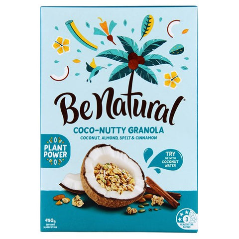 Be Natural Coco-nutty Cereal Almond Spelt & Cinnamon 450g