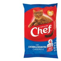 Chef Singles Cat Food Chicken & Ocean Fish 100g pouch 4pk