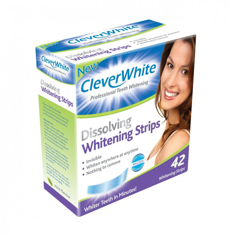 Clever White Tooth Whitening Strips 42pk Short Dated 05-2021