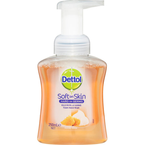 Dettol Antibacterial Foaming Hand Wash Honey Glow pump 250ml