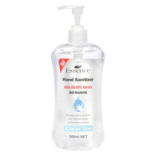 Essence Hand Sanitiser Clear Ice pump 500ml