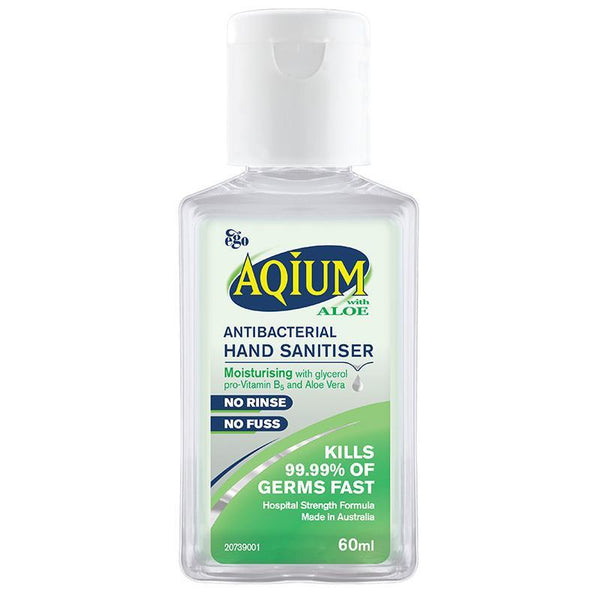 Aqium Anti-Bacterial Hand Sanitiser (Aloe) 60Ml