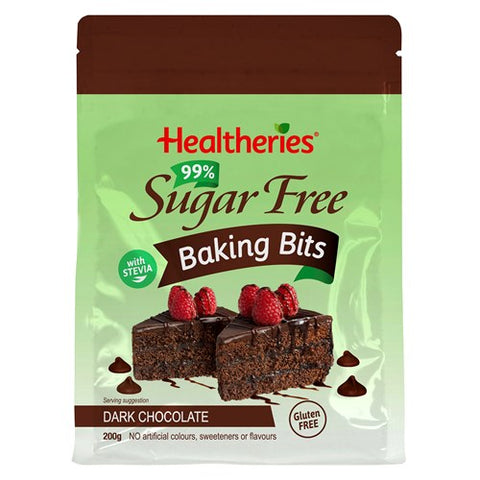 Healtheries Chocolate Bits Dark Choc 99% Sugar Free 200g