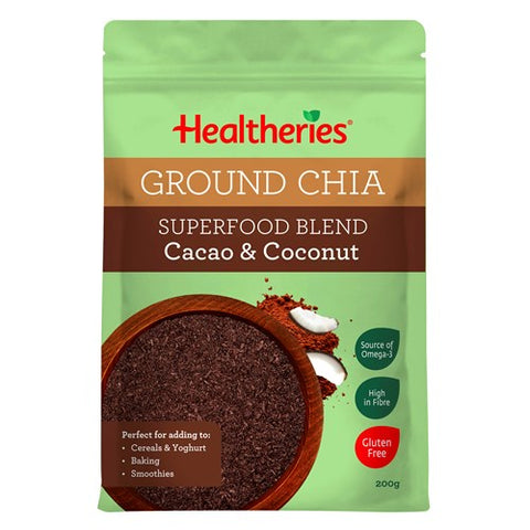 Healtheries Superfood Blend Chia Seeds Ground Cacao & Coconut 200g