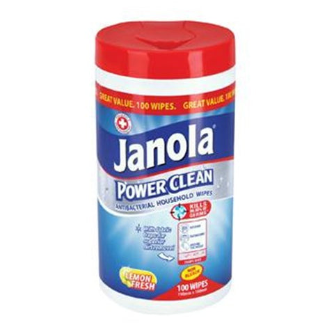 Janola Power Clean Cleaning Wipes Household 100pk