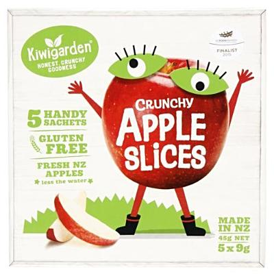 Kiwigarden Apples Slices prepacked box 45g