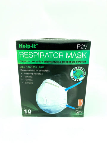 Help-It P2V Respirator Mask with Breathing Valve (10 Masks)