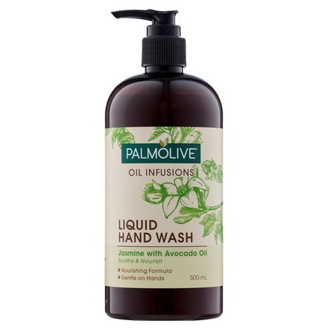 Palmolive Oil Infusions Hand Wash Jasmine & Avocado Oil Liquid pump 500ml