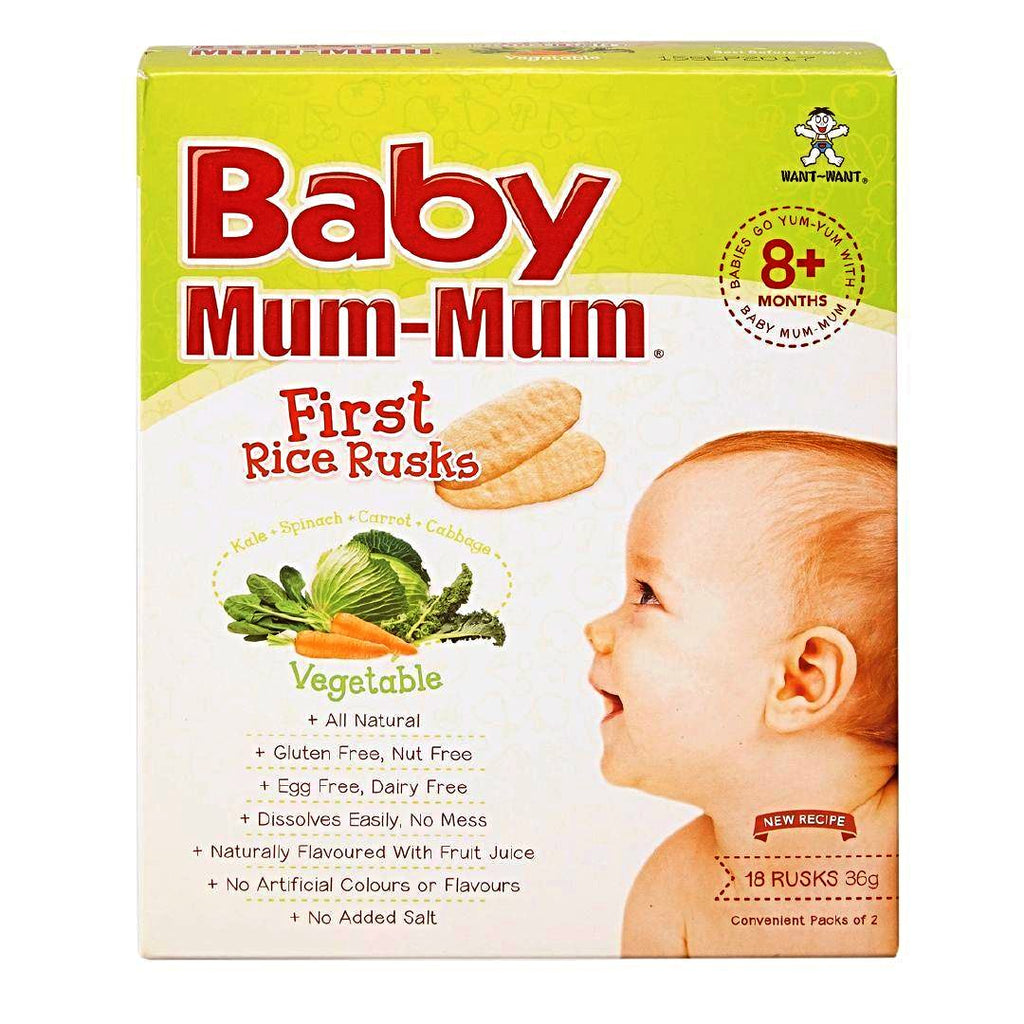 Baby Mum Mum Teething Rusks Rice Vegetable 36g 18pk
