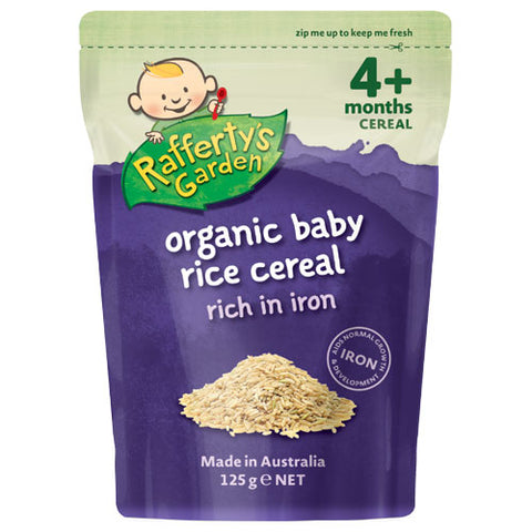 Raffertys Organic Baby Food Rice Cereal From 4 Months 125g