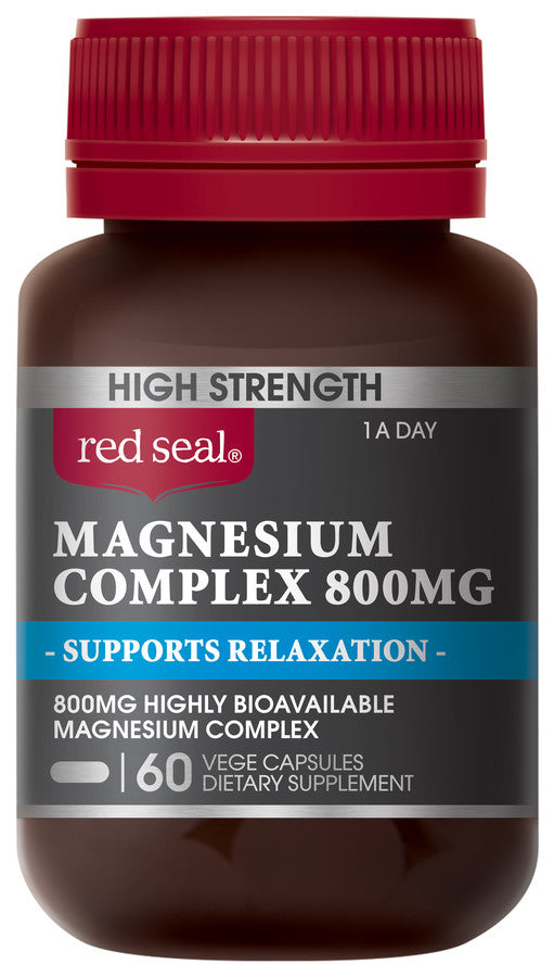 Red Seal Pharmacy Strength Magnesium Supports Relaxation 800mg 60pk