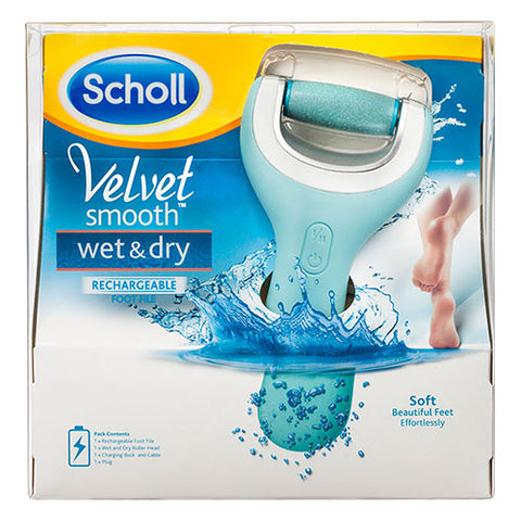 Scholl Velvet Smooth Wet & Dry Foot File Rechargeable Pedi