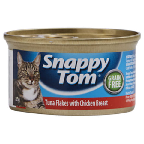 Snappy Tom Cat Food Tuna Flakes & Chicken 85g