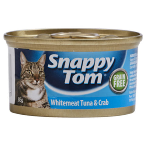 Snappy Tom Cat Food With Tuna & Crab 85g