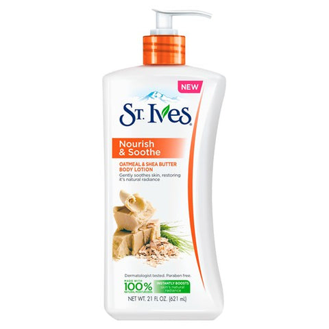 St Ives Body Lotion Oatmeal & Shea Butter pump 621ml