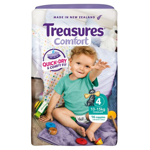 Treasures Comfort  Toddler Nappies 10-15kg 16pk