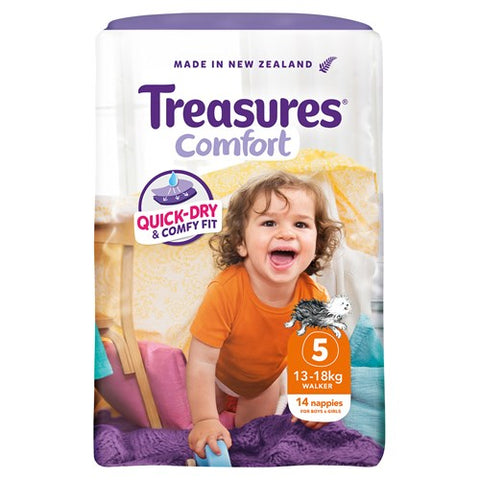 Treasures Comfort  Walker Nappies 13-18kg 14pk