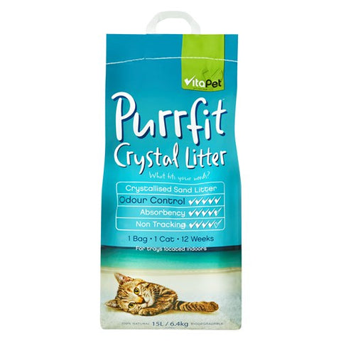 Vitapet Purrfit Cat Litter Crystal 15l