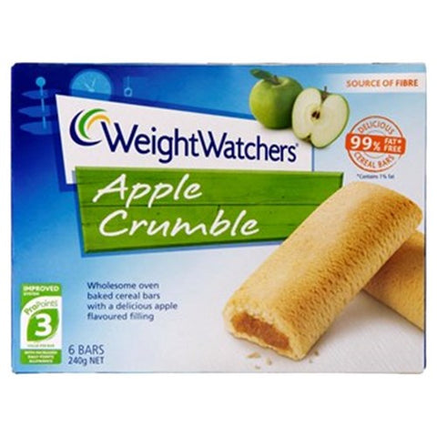 Weight Watchers Fruit Filled Bar Apple & Cinnamon Crumble 240g 6pk