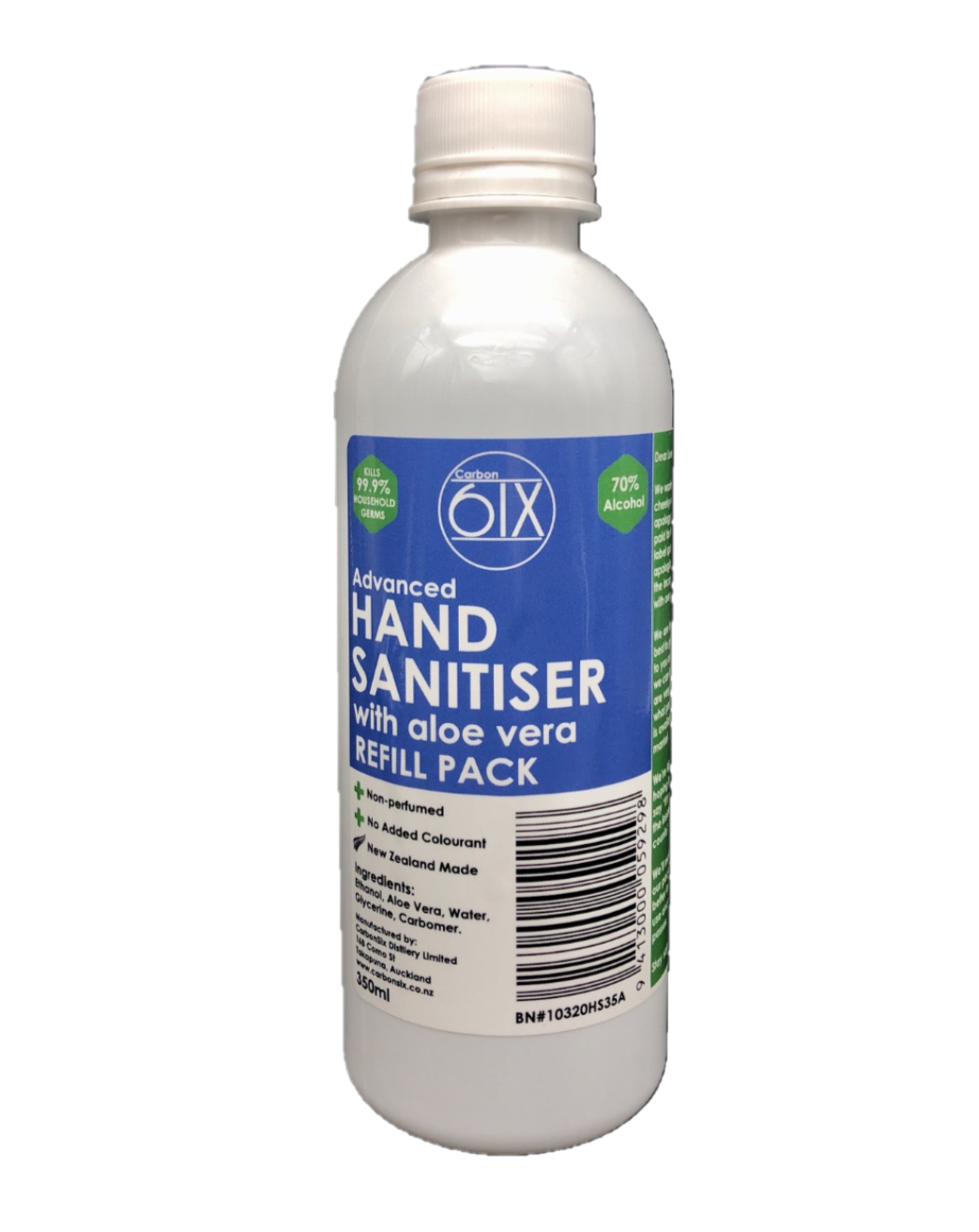 Advanced Hand Sanitiser 350ml | 70% Alcohol | NZ Made Refill Pack
