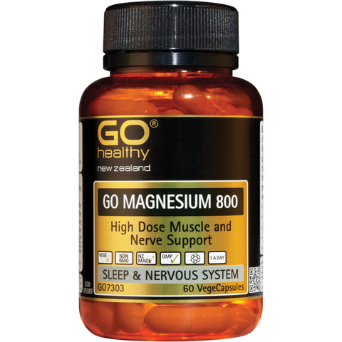 GO Healthy GO Magnesium 800 VegeCapsules 60s