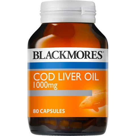 Blackmores Cod Liver Oil 1000mg Capsules 80s