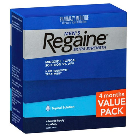 Regaine Men's Hereditary Hair Loss Treatment 4 x 60ml