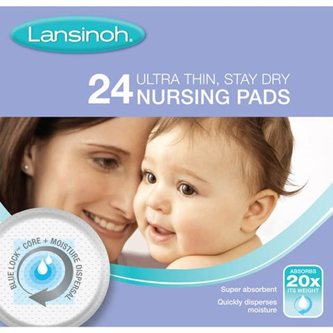 Lansinoh Ultra Thin Stay Dry Nursing Pads 24s