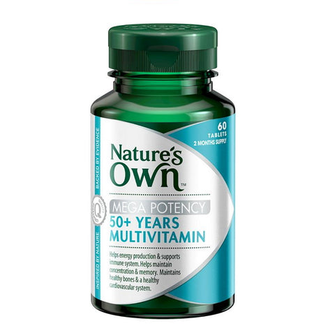 Natures Own Mega Potency 50+ years Multivitamin 60 Tablets