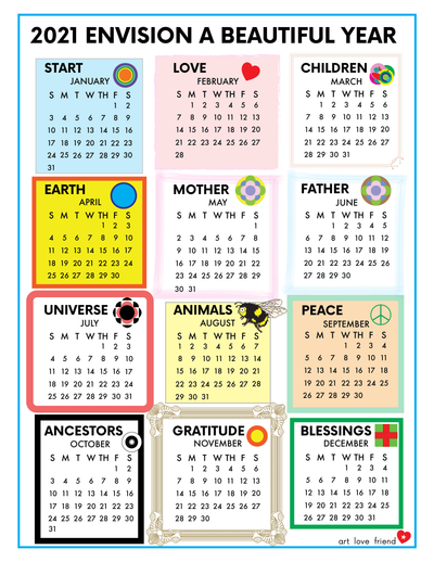 2021 Envision Calendar - free download for subscribers♥