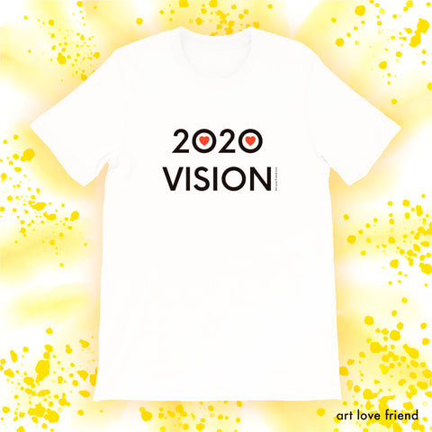 ART LOVE FRIEND 2020 VISION -WHITE-tshirt