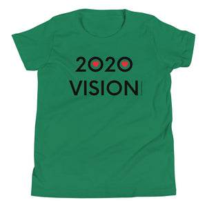 Image of 2020 VISION - Youth Short Sleeve T-Shirt - ATHLETIC HEATHER COLOR OPTION by Art Love Friend.