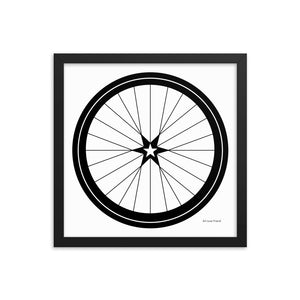 Image of BICYCLE LOVE - Star Wheel Framed poster - 14 x 14 SIZE OPTION by Art Love Friend.