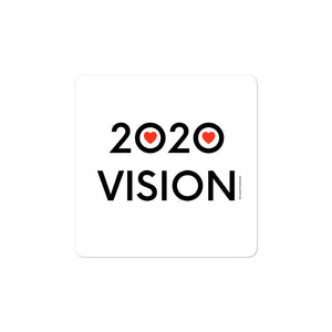 3 x 3 inch image of 2020 Vision sticker by Art Love Friend.