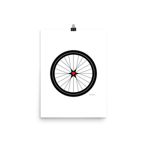 Image of BICYCLE LOVE - Poster - 12 x 16 SIZE OPTION by Art Love Friend.