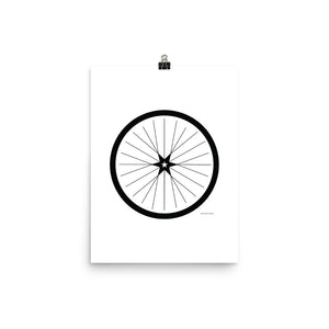 Image of BICYCLE LOVE - Shining Star Wheel Poster - 12 x 16 SIZE OPTION by Art Love Friend.