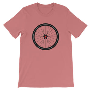 BICYCLE LOVE - Short-Sleeve Unisex T-Shirt -MULTI COLOR OPTIONS