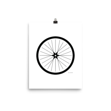 Image of BICYCLE LOVE - Shining Star Wheel Poster - 8 x 10 SIZE OPTION by Art Love Friend.