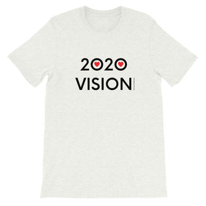 Image of 2020 VISION - Adult Short Sleeve Unisex T-Shirt - ASH COLOR OPTION by Art Love Friend.