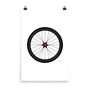 Image of BICYCLE LOVE - Poster - 24 x 36 SIZE OPTION by Art Love Friend.