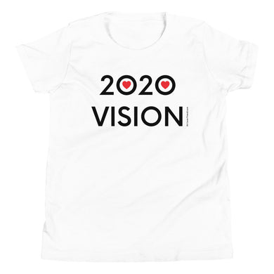 Image of 2020 VISION - Youth Short Sleeve T-Shirt - White COLOR OPTION by Art Love Friend.
