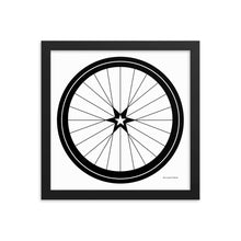 Image of BICYCLE LOVE - Star Wheel Framed poster - 12 x 12 SIZE OPTION by Art Love Friend.
