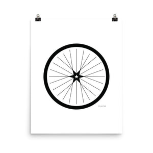 Image of BICYCLE LOVE - Shining Star Wheel Poster - 16 x 20 SIZE OPTION by Art Love Friend.