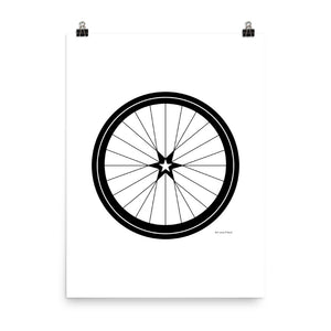 Image of BICYCLE LOVE - Star Wheel poster - 18 x 24 SIZE OPTION by Art Love Friend.