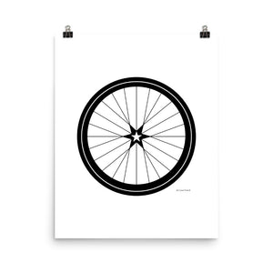 BICYCLE LOVE - Star Wheel poster - MULTI SIZE OPTIONS