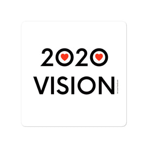 4 x 4 inch image of 2020 Vision sticker by Art Love Friend.