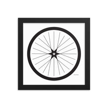 Image of BICYCLE LOVE - Shining Star Wheel Framed Poster - 10 x 10 SIZE OPTION by Art Love Friend.